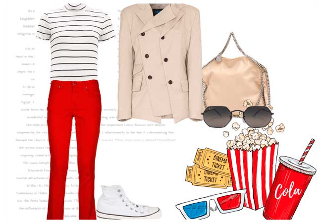 como combinar pantalon rojo