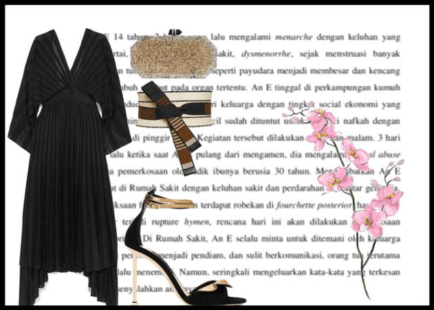 vestido negro para boda
